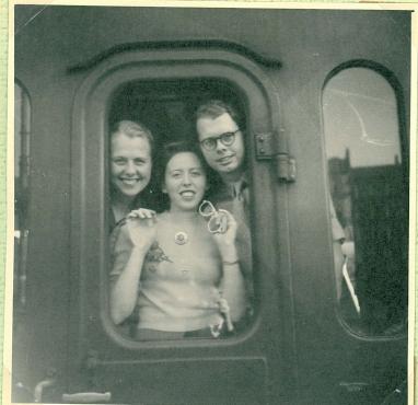 Afgang til Paris i 1949 Else, mor og far