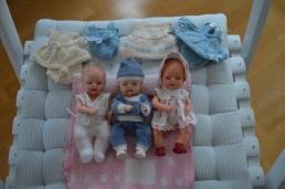 mine dukker og strikket tøj