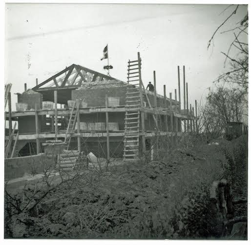Huset på Agerledet under opførsel 1953