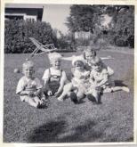 Ingrid og vores fætre og os