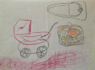 Min tegning af en barnevogn