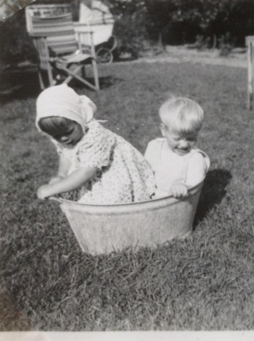 Tørbad i zinkbalje