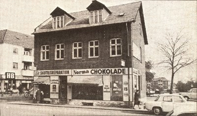Skoforretningen til venstre på Torvet i Herlev