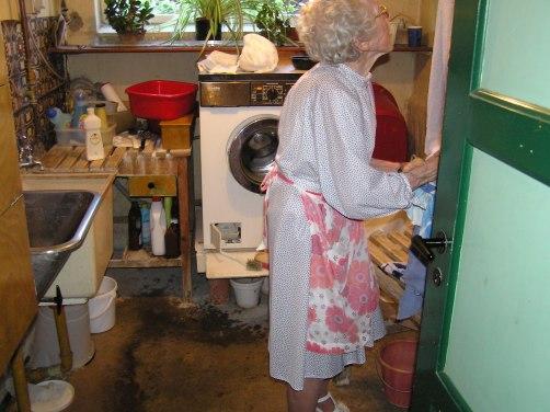 Et glimt af min mor i vaskekælderen uden hun ser det 2006