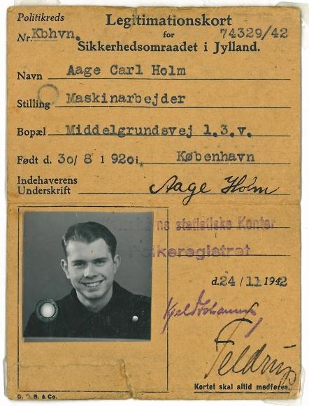 Legimitationskort fra krigen