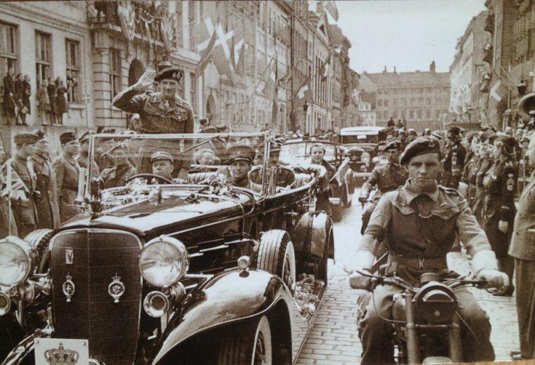 Montgomery i København mqj 1945