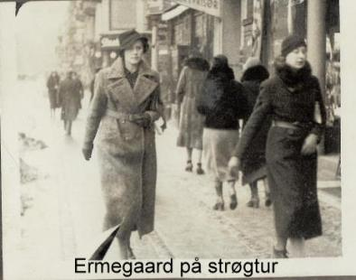 min moster Ermegaard under krigen på Strøget
