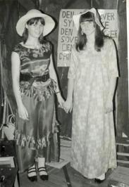 Jeg og Hanne C. til vestern fest