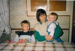 Benjamin jeg og Ditlev på min gamle stoleplads i Herlev