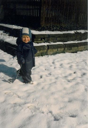 Ditlev glad i sneen