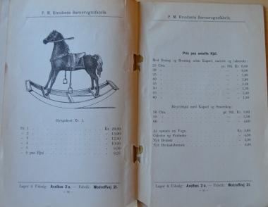 P.M.Knudsens Katalog med en gynggehest
