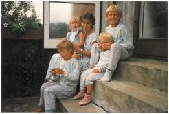 Børnene og jeg 1989 eller 90 på Agerledet 10, Herlev