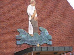 Skovgaards relief på Birkholms kirkesal