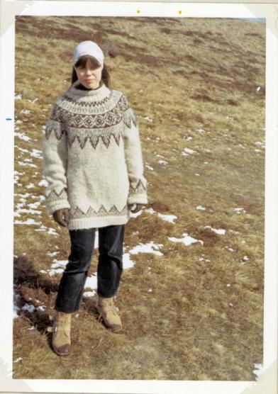 en hjemmestrikket sweater vinteren 1967/68