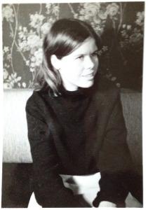 En af mine fløjlsnederdele vinteren 1966/67