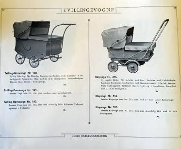 Odder katalog 1936 Tvillingevogne
