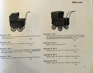 Odder Barnevognsfabrik 1939 dukkevogne