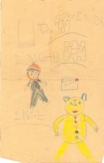 Barn og bamse og evt sneborge