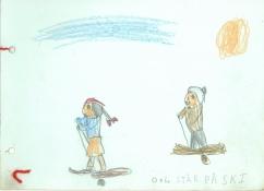 En lille historie om Ole og Lise, der står på ski