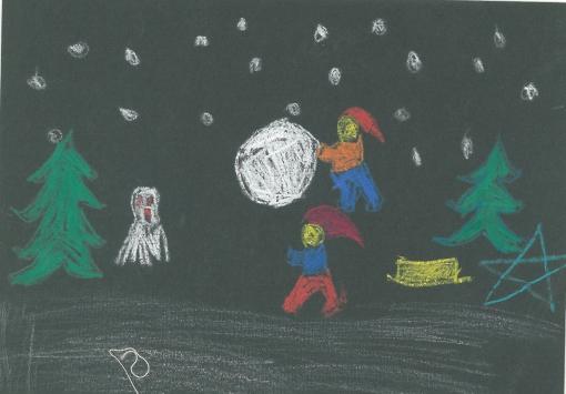 Julemotiv i sort 1958