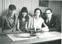 Adventsbillede med hele familien 1967