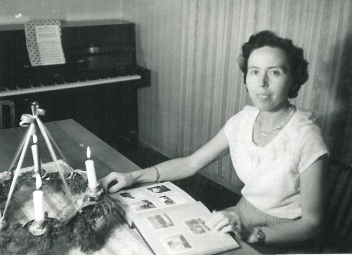 Adventsbillede med mor 1967