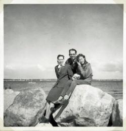 På Kronborg med familien i 1962 efter vi havde fået bil