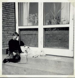 Torben med Bannick en forårsdag 1962