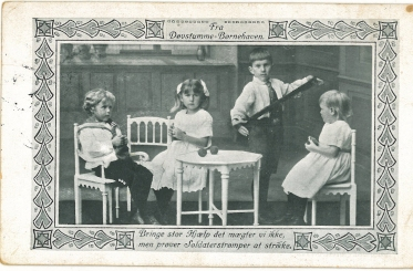 Et kort fra min mormors forretningsleder i Nansensgade 30 til Asta, der er indlagt på Øresundshospitalet