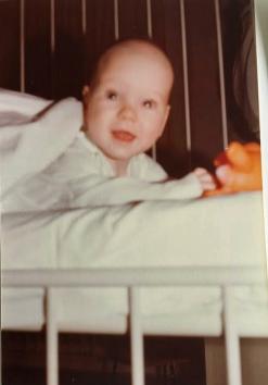 Børnehospitalet Fuglebakken 1978 en lille patient
