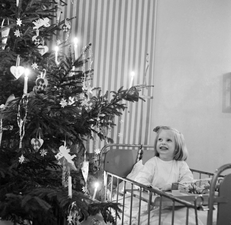 Jul på hospitalet 1951 København Fot AOK guide