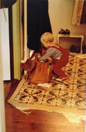 Andreas roder i min arbejdstaske 1981-1
