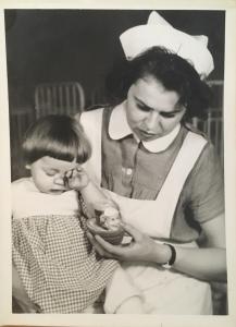 Mattern barneplejerske og barn på Philadelphia
