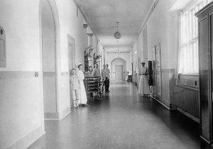 Bispebjerg Hospital Foto Væggen gamle pavillon