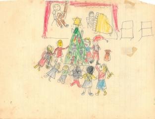 gå omkring juletræet