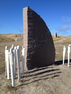 Lidt af mindeparken for Jyllandsslaget i Thyborøn
