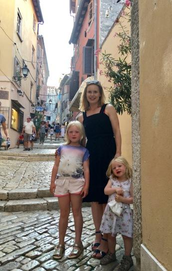 Cecilie og familien i Kroatien juli 2017