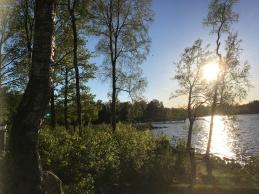Solnedgang i Sydsverige maj 2017