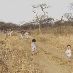 Zoe og Oliver på safari i Sydafrika september 2017