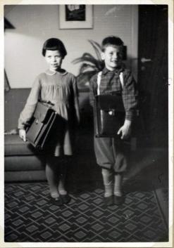 7 års fødselsdag med nye skoletasker