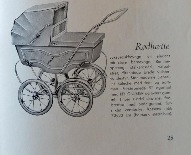 Itkin 1957-Rødhættedukkevogn