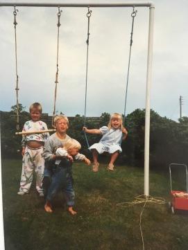 fra en kold sommerdag i 1988 ved Vejby Strand