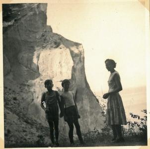 Udsigt over Møns Klint 1959
