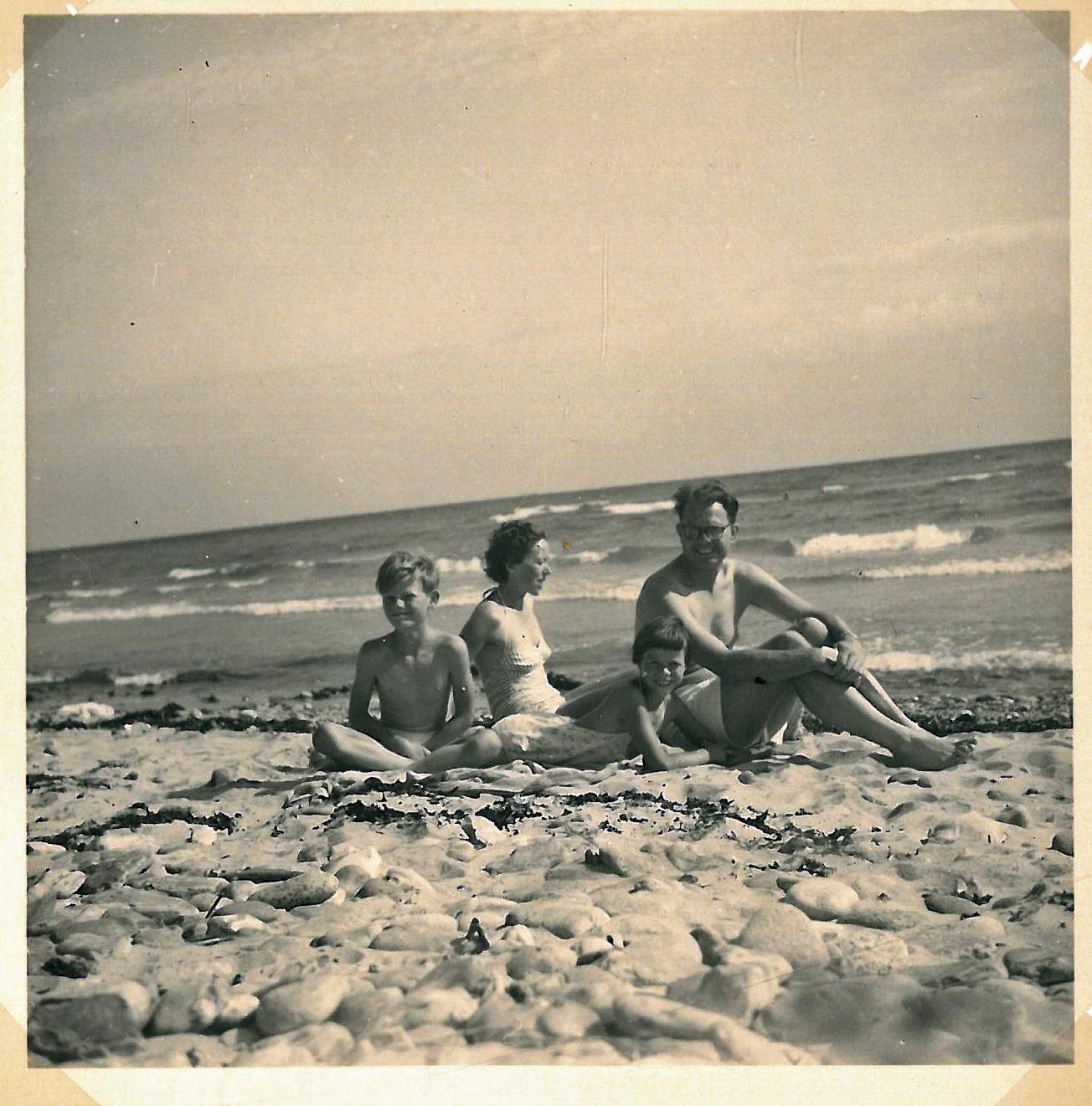 Strandtur på Møn 1957