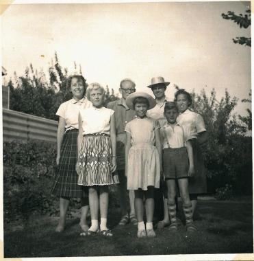 Vi kom hjem til Herlev, hvor vi blev modtaget af familien i 1959