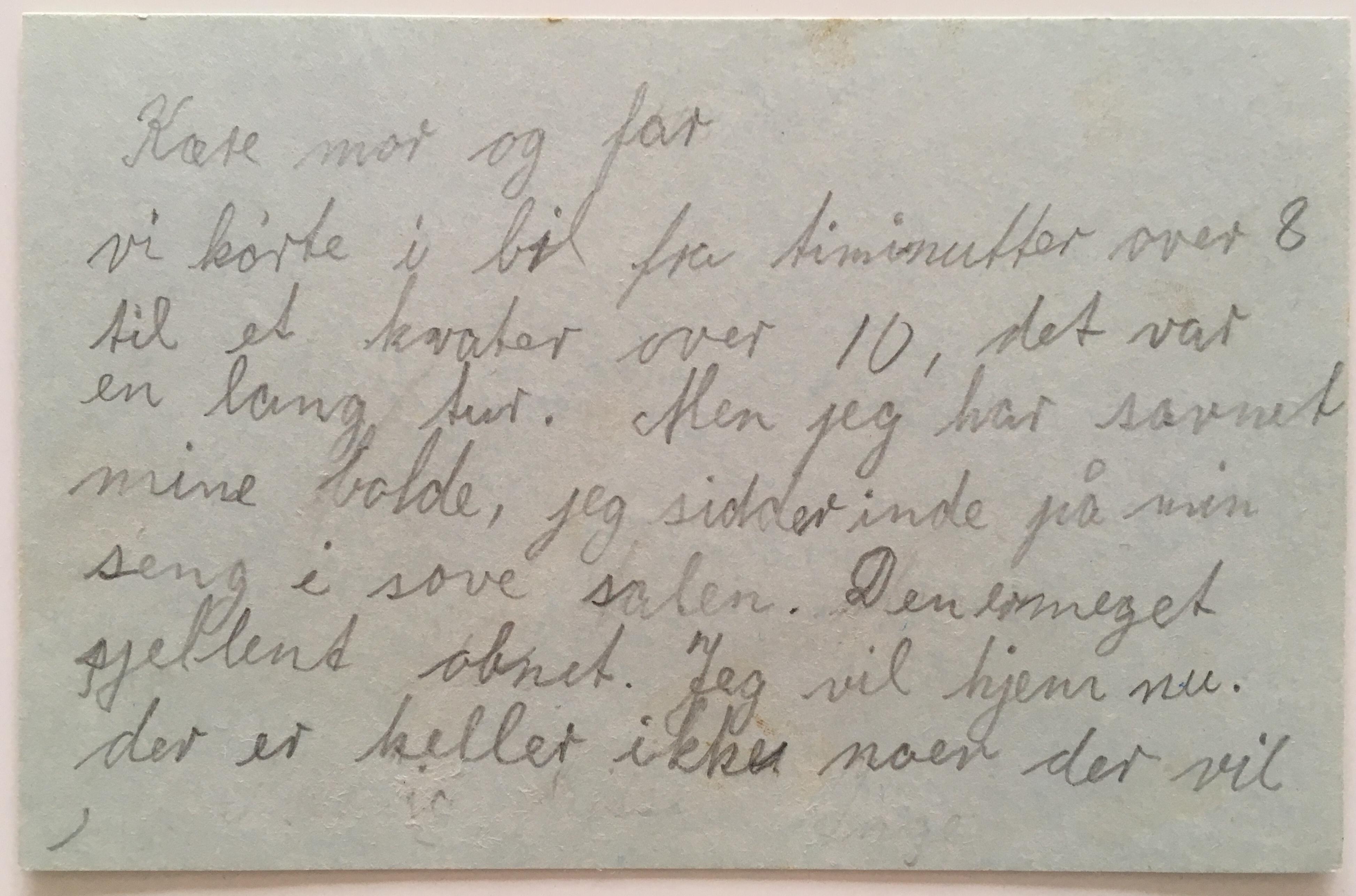 et brev fra mig om den første dag #1
