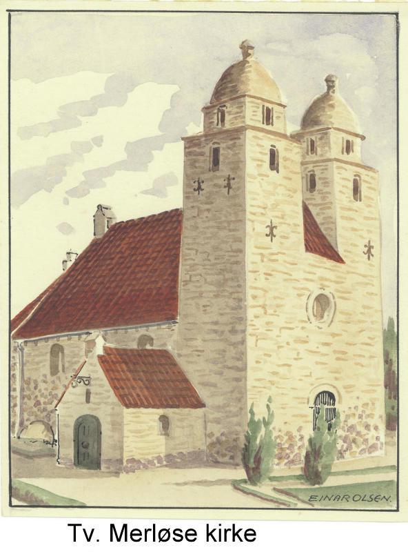 Tveje Merløse kirke, hvor min morfar var kordegn
