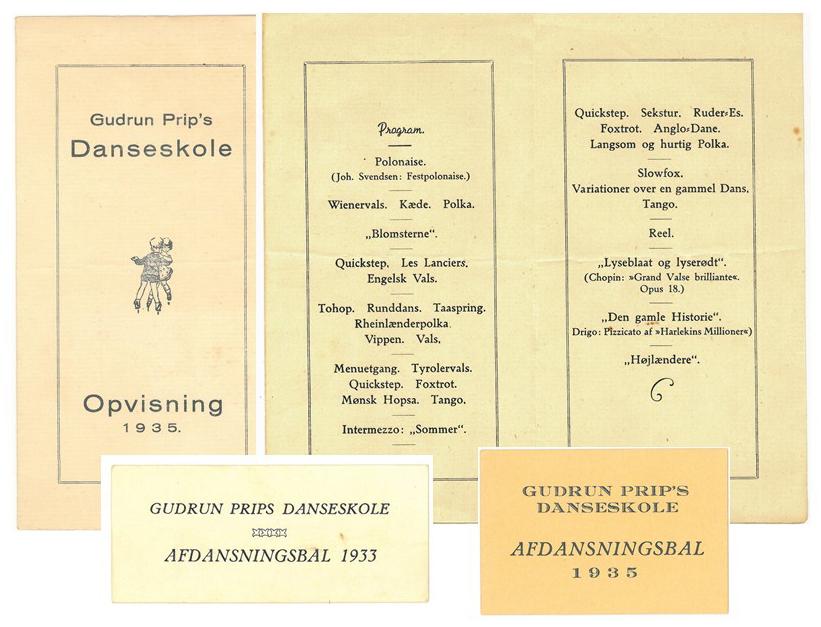 Danseskoleprogram årgang 1935