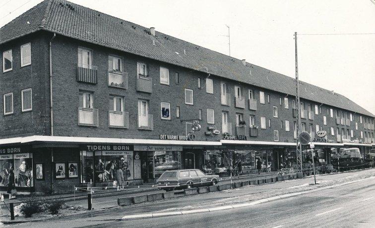 Herlev Hovedgade og Stationsvejen i 1960erne. Foto Herlev Lokalarkiv