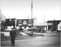 Bygaden møder Ringvejen ved det nuværende Punkt 1. Foto Herlev Lokalarkiv